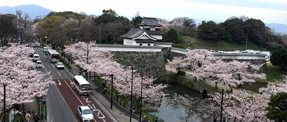 福岡城跡と大濠